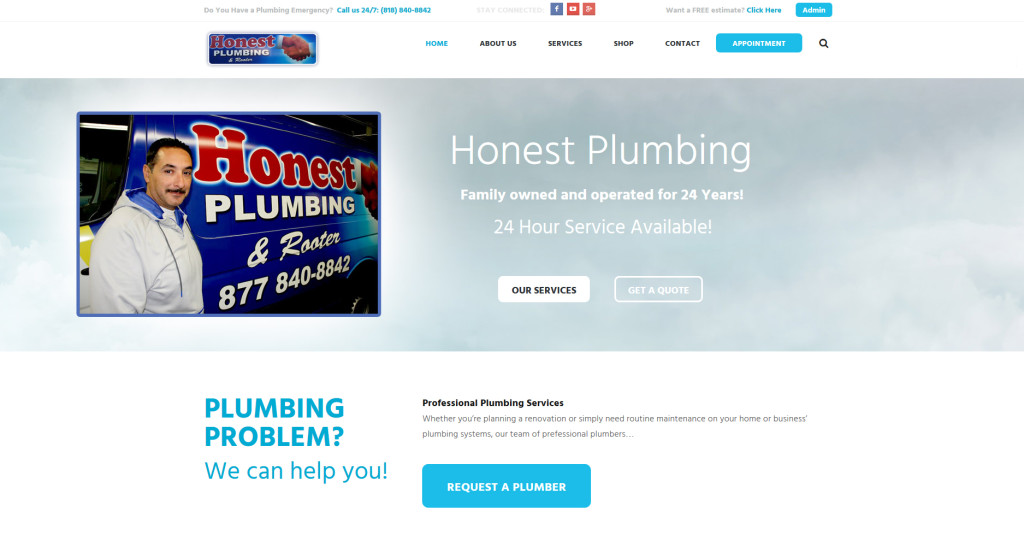 "Honest Plumbing in Burbank. ""Get It Done Right The First Time."""