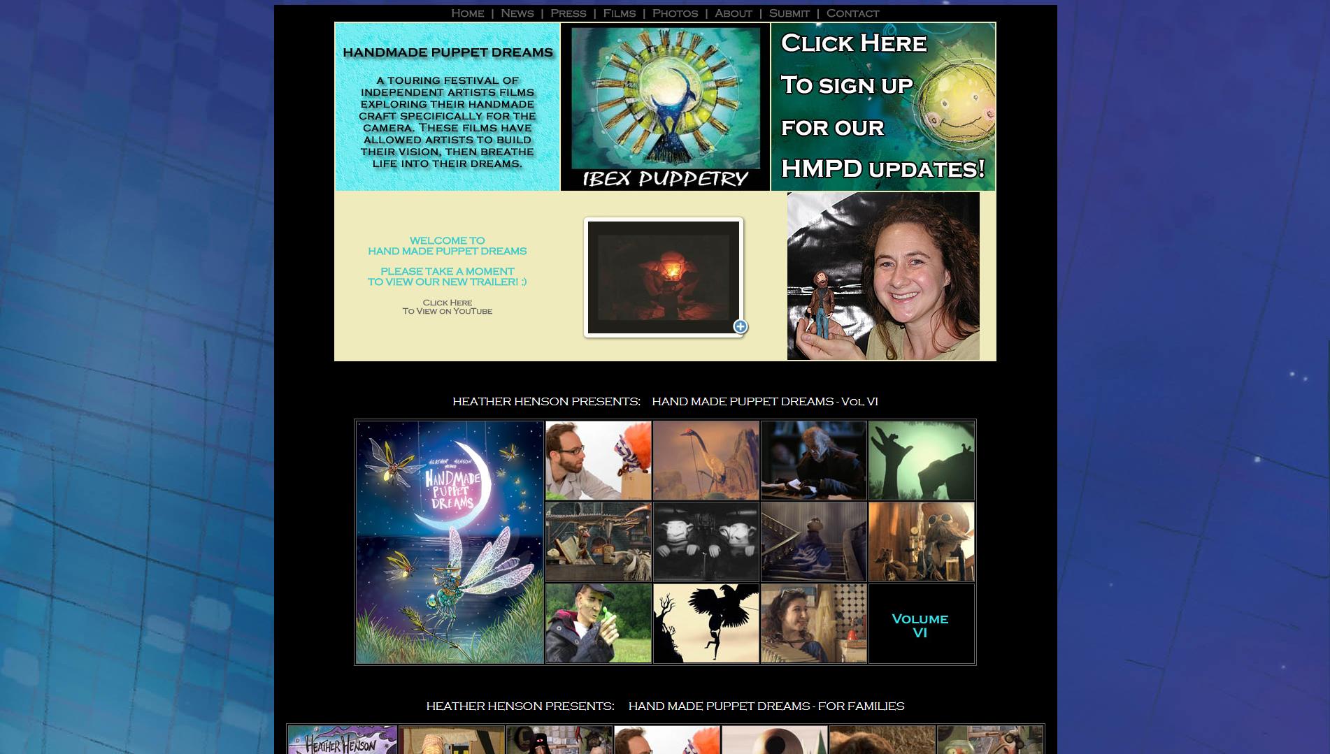 Heather Henson's Puppet Movie Festival Website.